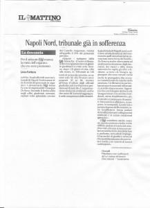 Napoli Nord, tribunale già in sofferenza