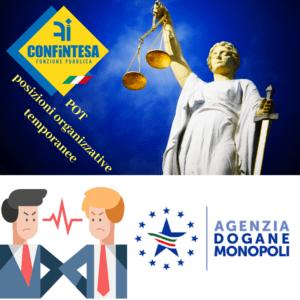 Ratti( Confintesa FP): Il Tar del Lazio solleva la questione di legittimità costituzionale sulla agenzia delle Dogane