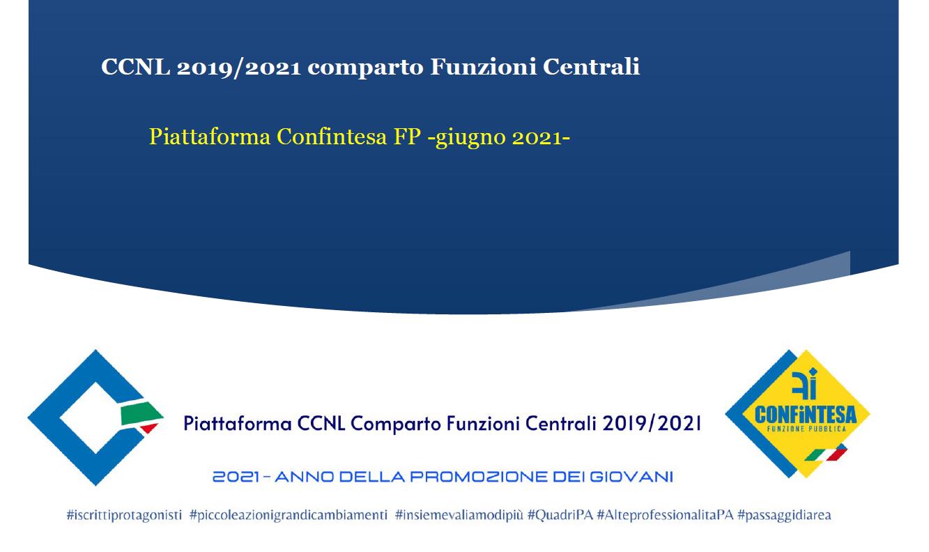 Piattaforma CCNL Comparto Funzioni Centrali 2019/2021