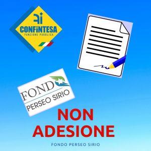 (NON) ADESIONE AL FONDO PERSEO SIRIO